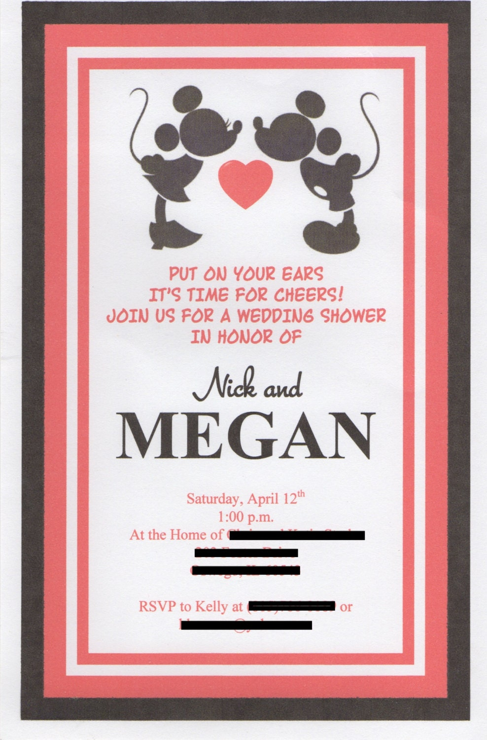 Disney Themed Wedding Invitations and get inspiration to create nice invitation ideas