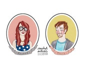 RESERVED FOR MEG Custom Couples Portrait - On Sale For Christmas!