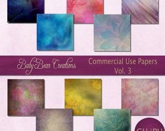 10 digital scrapbooking papers. Assorted colors & Textures.
