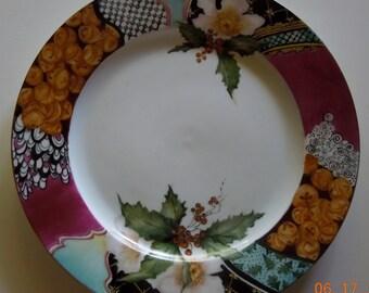 Christmas China plate- Hand painted  Christmas plate