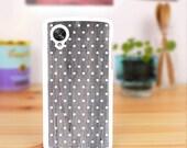 Nexus 5 case Charcoal print grain wood , Nexus 4 case white polka dots wood , design for LG Google Nexus 5 Cover, Nexus 4 Cover - 092