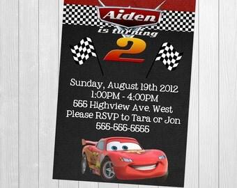 Cars Invitation - Lightning McQueen Invitation -Cars Lightning McQueen - Race Cars Invitation - Racing Invitation -Cars Invitation Printable