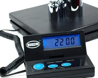 110 LB x 0.1 OZ Digital Postal Scale 50Kg Platform Shipping Scale with AC