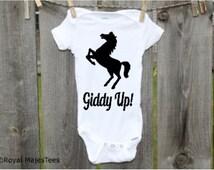 Giddyup Horse Onesies®, Cowboy Baby Shower, Horses
