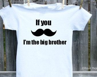 Big Brother Mustache Shirt, Moustache Shirt