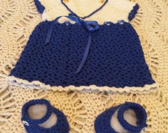 baby crochet sailor dress.