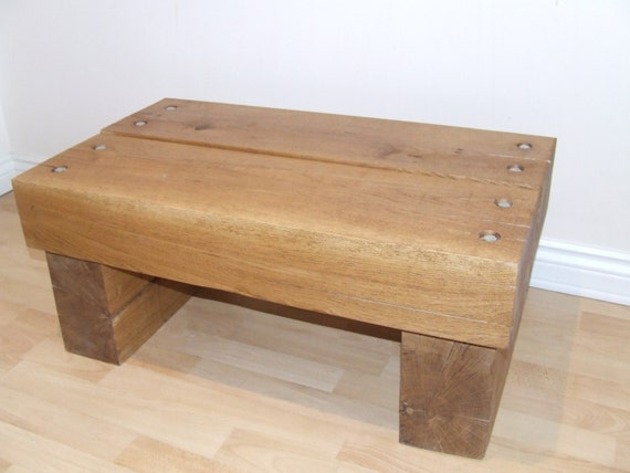 Items similar to sleek oak sleeper coffee table on etsy Sleek coffee table