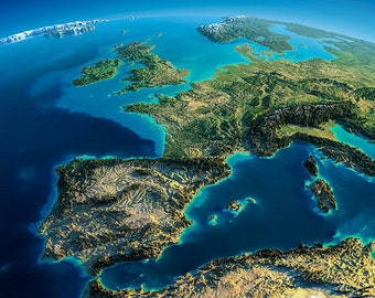 Earth - Europe - planet earth, satellite view - SKU 0092