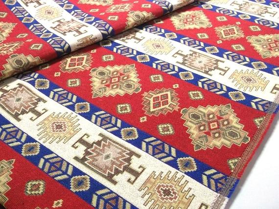 tissu d 39 ameublement de style tribal ethnique coton tissu. Black Bedroom Furniture Sets. Home Design Ideas