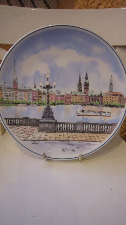 vintage villeroy boch heinrich germany wall plate by motsch. Black Bedroom Furniture Sets. Home Design Ideas