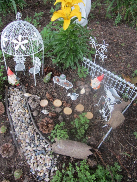Miniature Fairy Gnome Garden Kit Gazebo By Afairygoodtime On Etsy