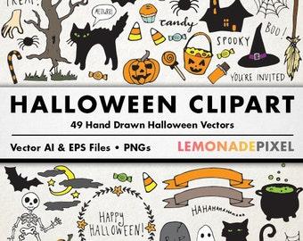 halloween clipart hand drawn clip art halloween party halloween decorations printable halloween