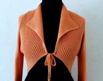 Women's Knit Coral Cardigan Bolero Small Size
