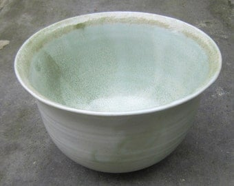 Bowl with light copper green glaze