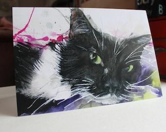 Oscar - Cat Greetings Card
