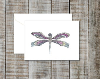 Greeting Card Dragonfly- Blank