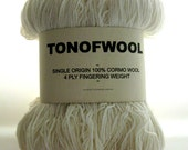 Yarn Cormo Wool 4 Ply Fingering Weight Natural Cream Undyed Tasmania Rare 300g