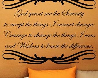 Serenity Prayer Wall Art serenity prayer art | etsy