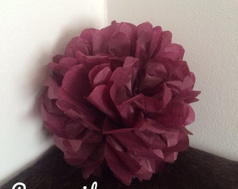 Pack of 2 PomPoms in color tissue paper of wine dregs