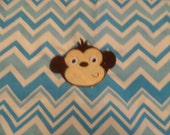 Monkey Chair Pocket - Blue Chevron (1 Chair Pocket - You Pick the Wording)