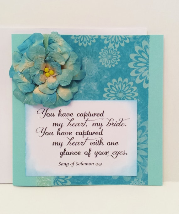 Items Similar To Scriptural Anniversary Wedding Card Bible Quote NWT Husband To Wife Love