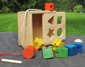 Block Cage Simple,Educational toy,Christmas gifts for kids,Waldorf toy,Baby toy, Kids toy,Waldorf Toy