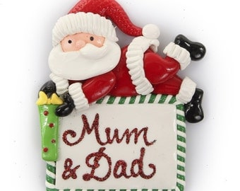 Personalised Santa Plaque Christmas Decoration
