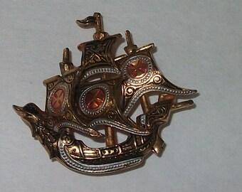 Ship Brooch Spain