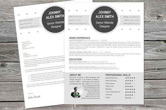 modern cover letter plus resume template for creatives - What Is A Cover Letter On A Resume