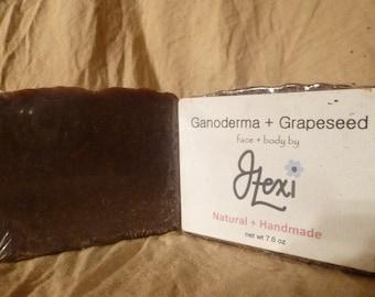 Ganoderma + Grapeseed, handmade soap, ganoderma soap, grapeseed soap, reishi mushroom soap, antiaging soap, manuka honey soap, best soap