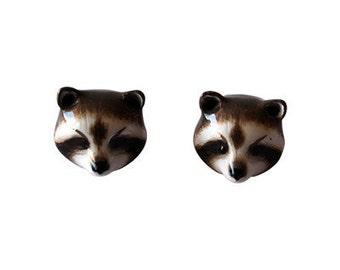 Racoon Earrings