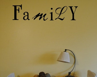 Family Wall Decal, Family Wall Decal, Wall Vinyl   Decal, custom Wall decal, custom wall quote, Vinyl Wall Quote, Removable wall Decal