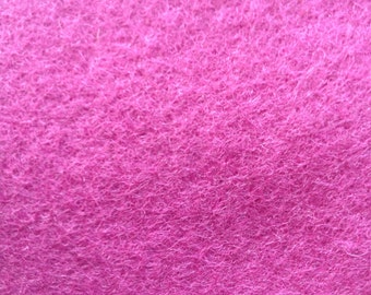 100% Wool felt. Fuchsia