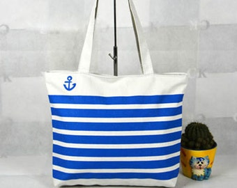 Tote Bag - Cotton Bag - Print Canvas - eco friendly - gift for her - beach bag.  NO. 012