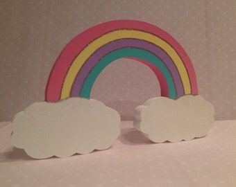 Freestanding Rainbow and Clouds