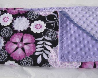 Lavender Garden Reversible Minky
