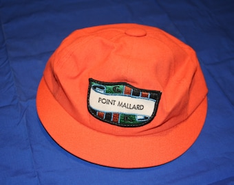 Vintage Orange Point Mallard Derby golf cap
