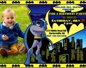 Personalized Batman Invitation-Personalized Batman Birthday Invitation-Printable Batman Invitation-Personalized Batman