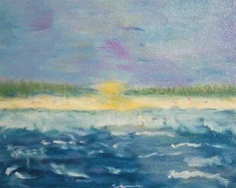 European art oil painting seascape signed