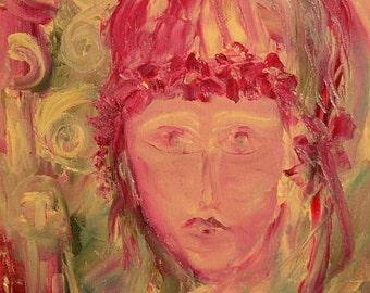 European art expressionist composition oil painting portrait