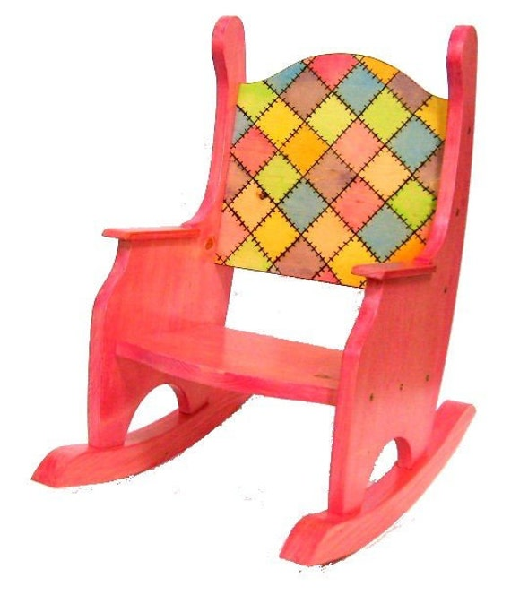 patchwork children 39 s rocking chair. Black Bedroom Furniture Sets. Home Design Ideas