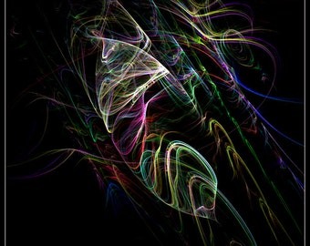 abstract fractal art print: Neith
