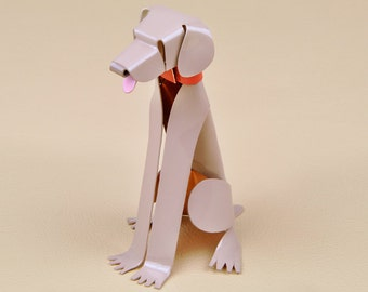 "Weimaraner Dog Sculpture 4"" tall Handmade Copper Miniature Collectible Art, Weimaraner Art, Weimaraner Figurine, Weimaraner Gift"