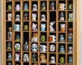 100 Miniatures / Thimble Display Case Holder Cabinet, with Glass Door