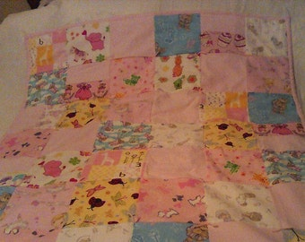 Pink Blanket Quilt for Baby