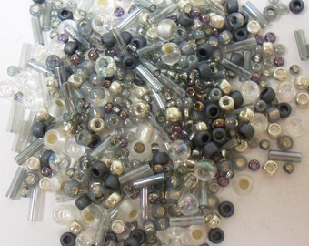Toho Seed Bead Mix 10gr Gray Silver 36165