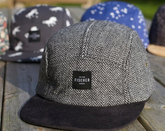 Herringbone Tweed 5 panel hat