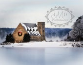 Winter Fog at the Old Stone Church, West Boylston, Photography