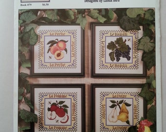French Country Fruits cross-stitch booklet