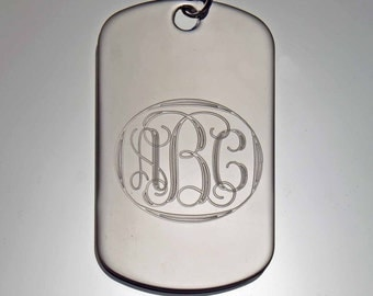 Entwined Letters Monogram, Necklace, Pendant, Momento, Charm